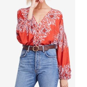 Free People Birds of a Feather Peasant Top Sz:M